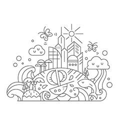 Fantasy Island vector image vector image