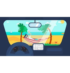 Summer Travel in Car vector image