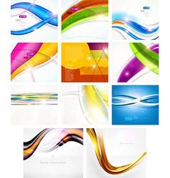 Futuristic Background Set vector image vector image