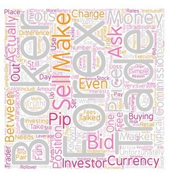 How do forex brokers make money text background vector
