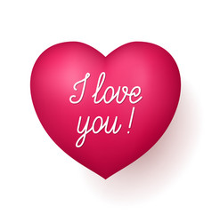i love you red heart vector image