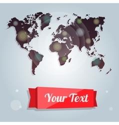 Modern banners world map creative idea flyers vector image