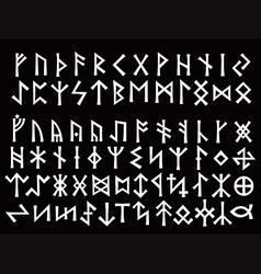 silver runic script vector image