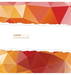 Torn paper with triangles and polygon mesh vector image