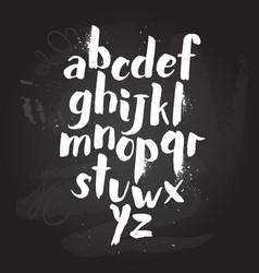 alphabet poster dry brush ink artistic modern vector image vector image