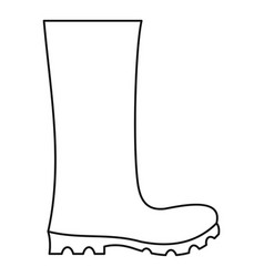 rubber boots icon thin line vector image