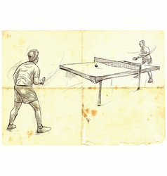 sport table tennis ping-pong an hand drawn vector image vector image