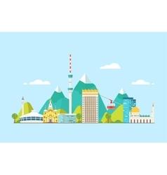 Almaty abstract skyline vector image