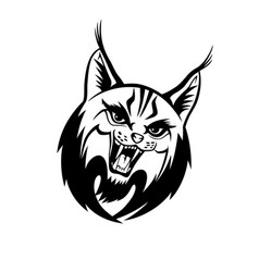 angry lynx sign vector image
