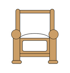 armchair icon design vector image