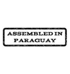 Assembled in paraguay watermark stamp vector