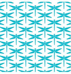 Background pattern with dragonfly icons vector