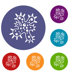 bacteria icons set vector image