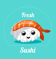Banner with japanese sushi vector