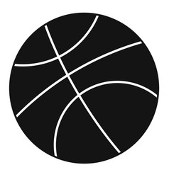 basketball ball icon simple style vector image