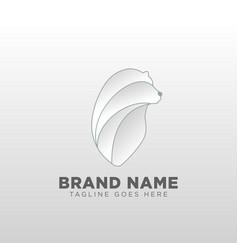 Bear logo design concept template icon element vector