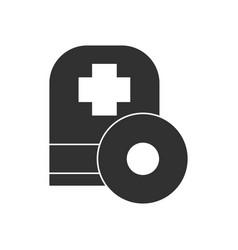 Black icon on white background otolaryngology vector