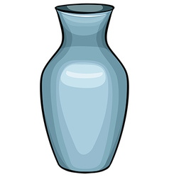 Blue vase vector