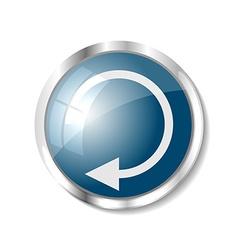 Blue web button vector image