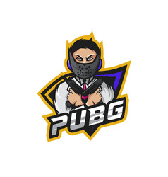 Boy with weapon for pubg squad vector