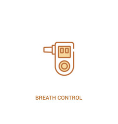 Breath control concept 2 colored icon simple line vector