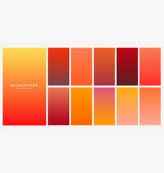 Bright orange autumn color gradients set vector