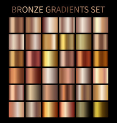 Bronze gold gradients vector