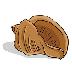 Brown-colored cartoon seashellscrew-shaped vector