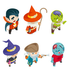 children masquerade party halloween costume vector image