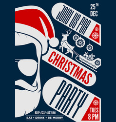 Christmas party invitation or poster design vector