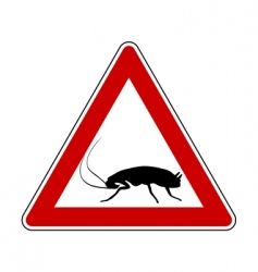 cockroach warning sign vector image