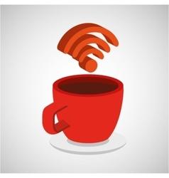 Concept internet coffee icon vector