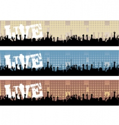 Concert banners vector