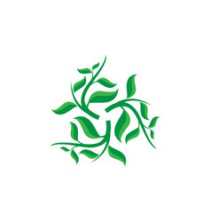Creative green leaf ecology nature element vector