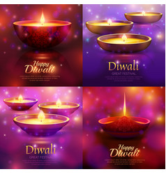 diwali celebration design concept vector image