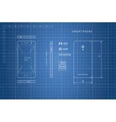 Drawing of outline smartphone vector