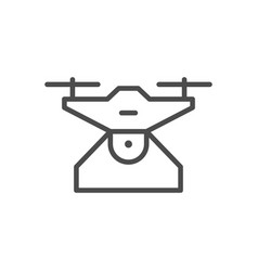 drone device line outline icon vector image