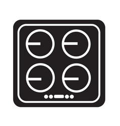 electronic hob icon design vector image