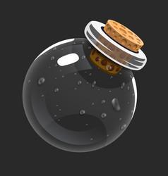 Empty bottle game icon magic elixir interface vector