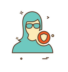 female avatar icon design vector image
