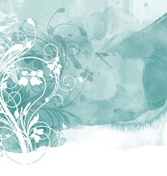 Floral watercolour design 0801 vector