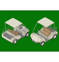 Golf cart isometric flat vector image vector image