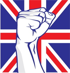 Great Britain fist vector image