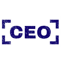 Grunge textured ceo stamp seal inside corners vector