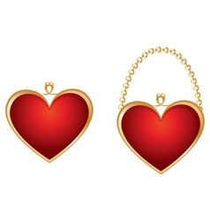 Heart shaped purse vector