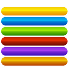 Horizontal colorful vivid buttons with blank vector