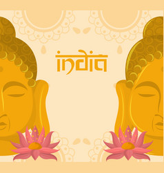 India culture and travel vector