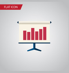 Isolated easel flat icon graph element can vector