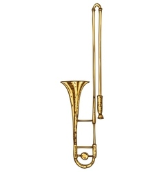 Isolated Golden Trombone vector image
