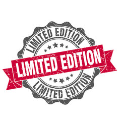 limited edition stamp sign seal vector image